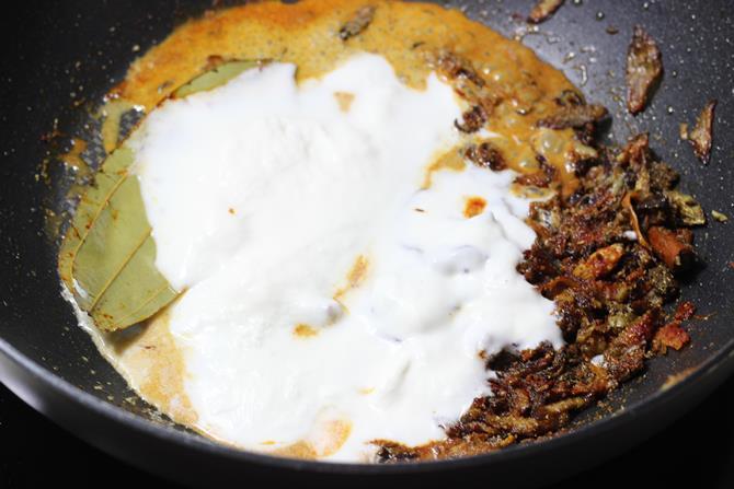 addition of coconut milk or yogurt for hyderabadi fish biryani recipe