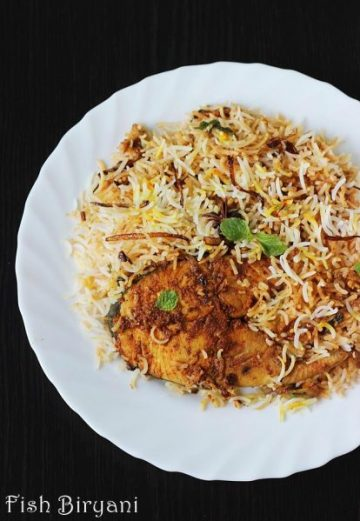 Fish biryani recipe | How to make fish biryani | Fish dum biryani recipe