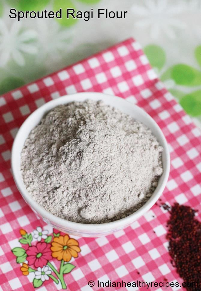 sprouting millets to make ragi flour ragi powder recipe