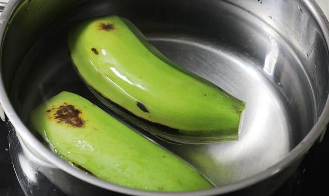 boiling plantains for raw banana curry recipe
