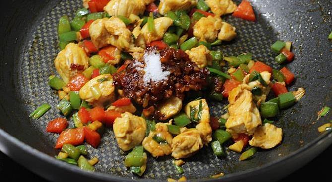 add salt in schezwan chicken fried rice recipe