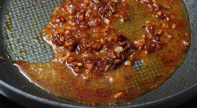 addition of water in schezwan chicken fried rice recipe