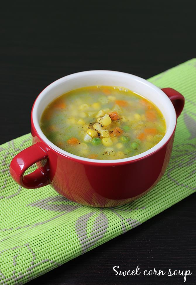 Sweet Corn Soup Recipe How To Make Sweet Corn Soup Recipe