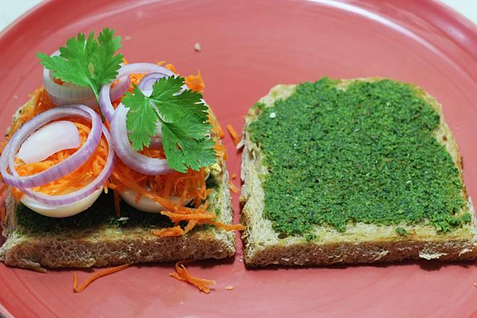 spread chatni for egg chutney sandwich recipe