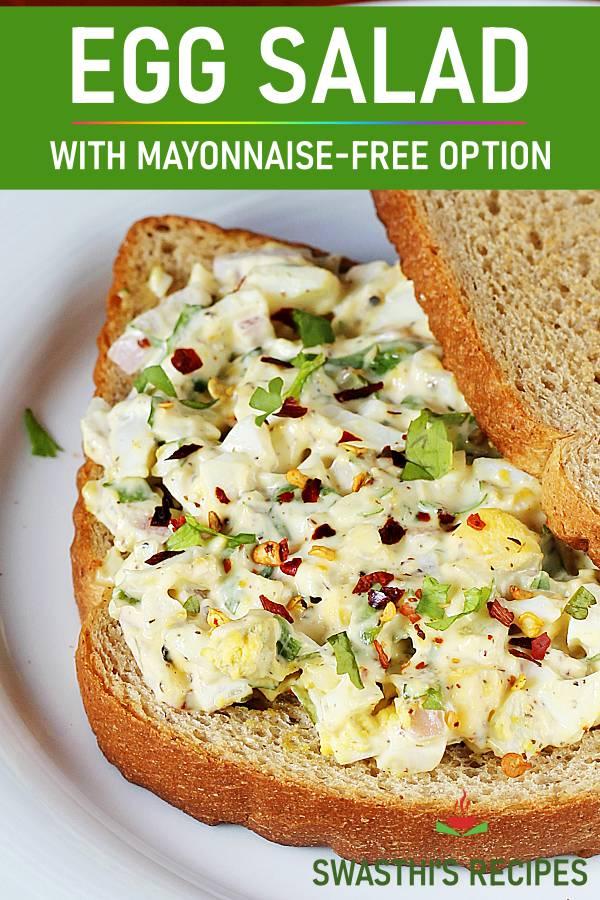 Egg salad recipe – 2 ways to make healthy boiled egg salad