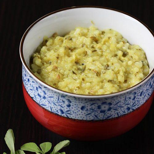 methi khichdi recipe for babies & toddlers   baby food recipes