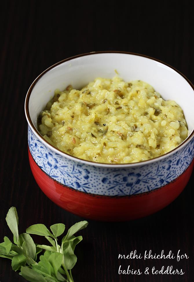 methi khichdi recipe for babies