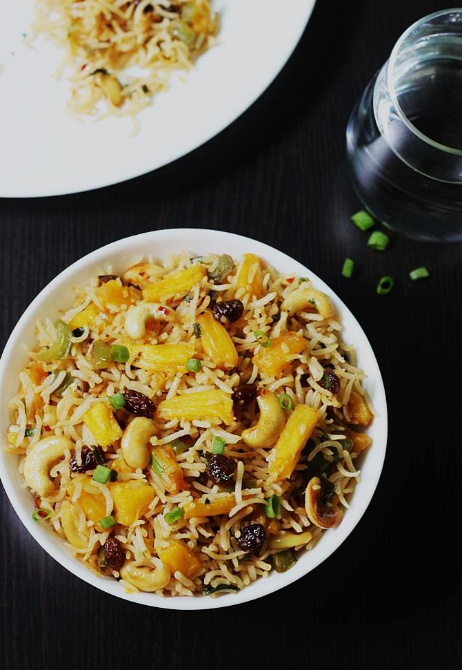 veg pineapple fried rice recipe