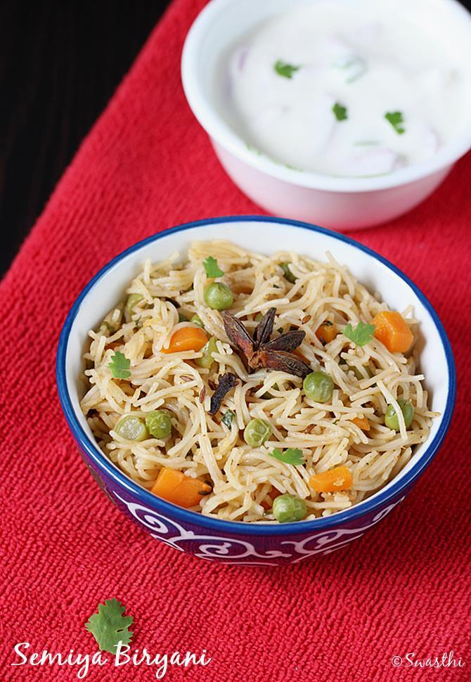 vermicelli biryani recipe swasthis recipes