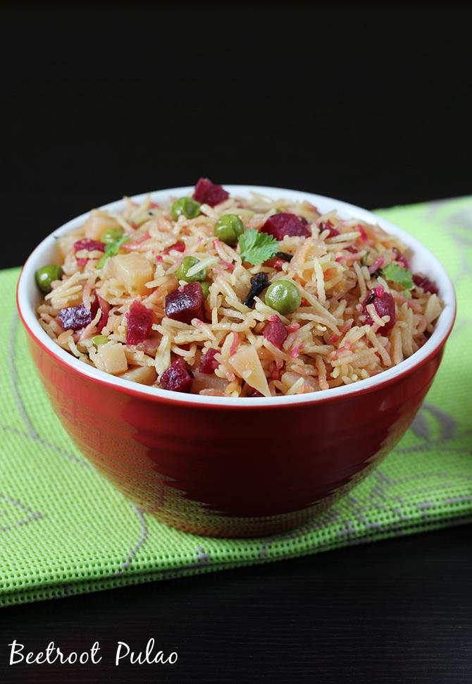 beetroot rice beetroot pulao recipe