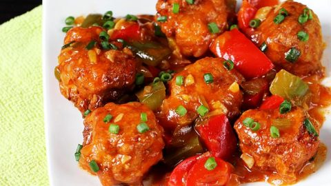Chicken Manchurian Recipe Swasthi S Recipes