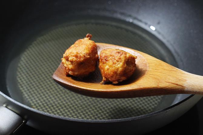 frying meat balls