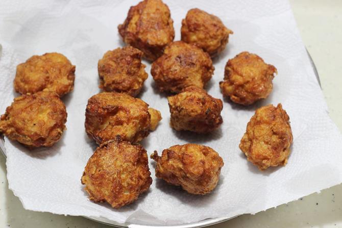 draining balls for chicken manchurian recipe