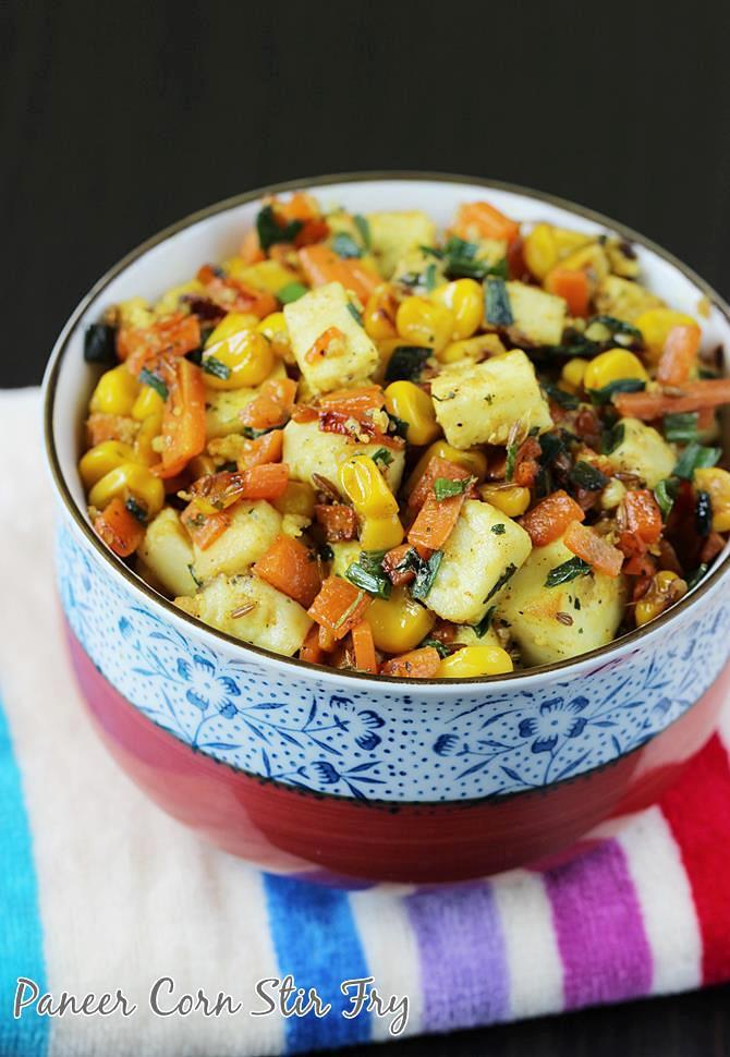 paneer fry with vegetables