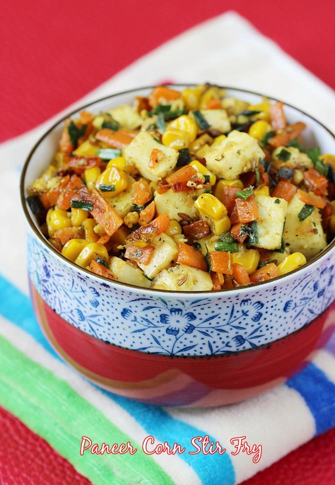 paneer fry with veggies swasthis