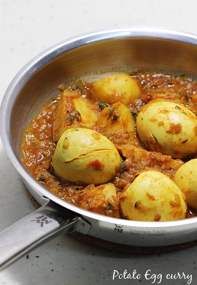 potato egg curry recipe swasthis recipes