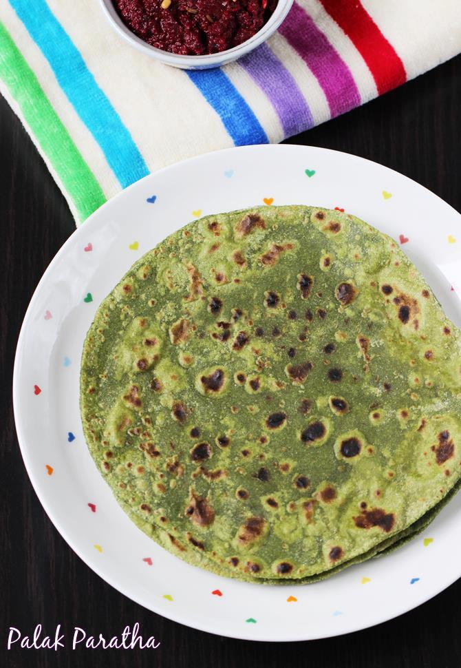 spinach paratha recipe swasthis recipes