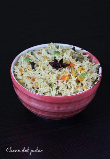 Chana dal pulao recipe   Chana dal rice recipe
