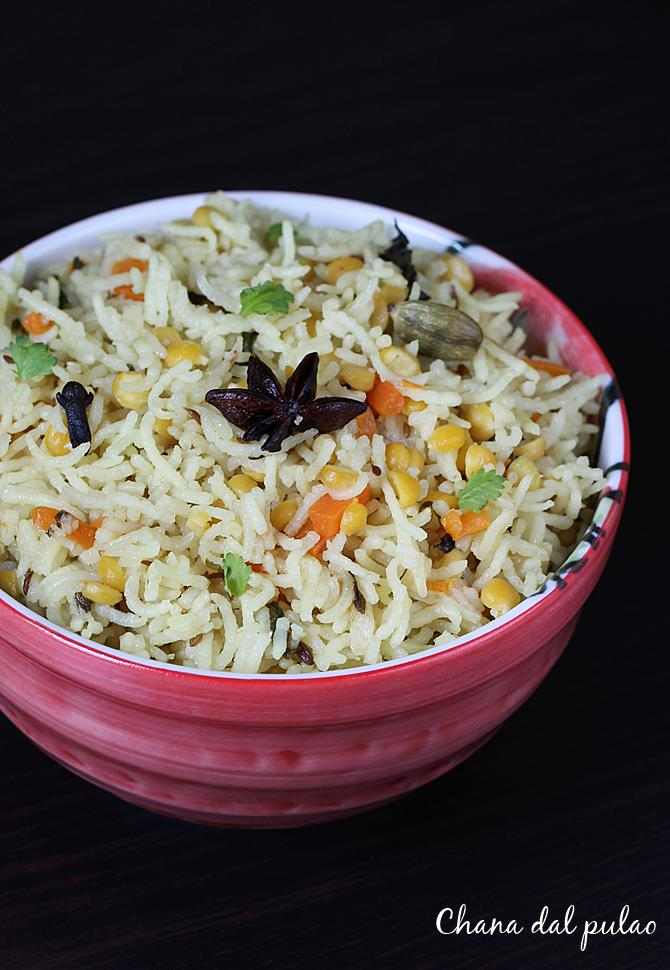 chana dal pulao recipe swasthis recipes