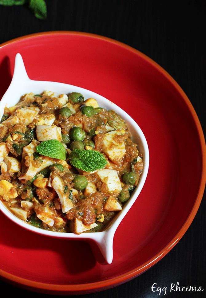 Indian style egg kheema recipe