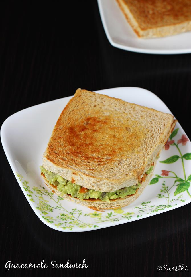 Guacamole Sandwich Recipe How To Make Guacamole Sandwich