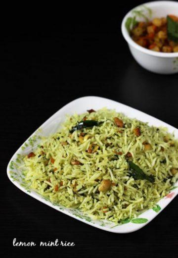 Lemon pudina rice recipe | Lemon mint rice recipe