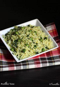 methi rice recipe, how to make methi rice