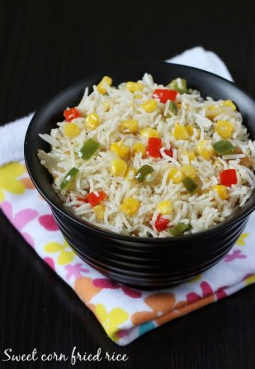 Sweet corn rice recipe | Sweet corn fried rice