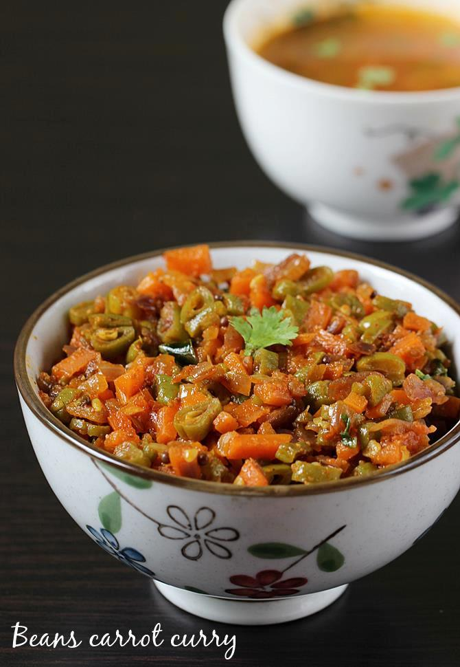 beans carrot curry swasthis recipes