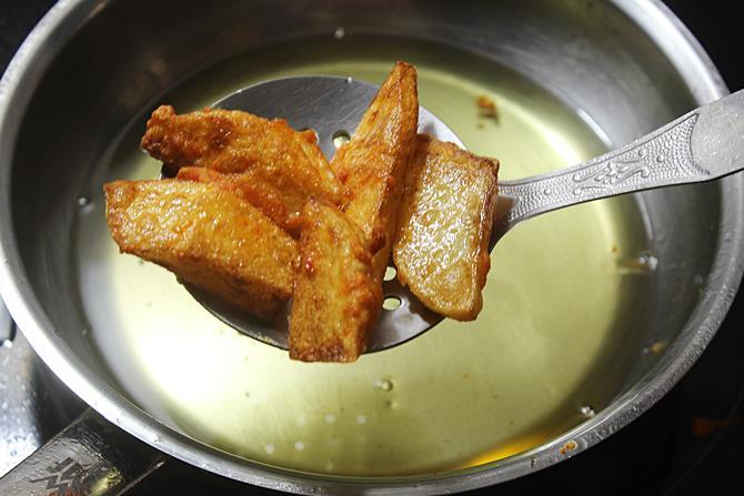 crisp fried potatoes