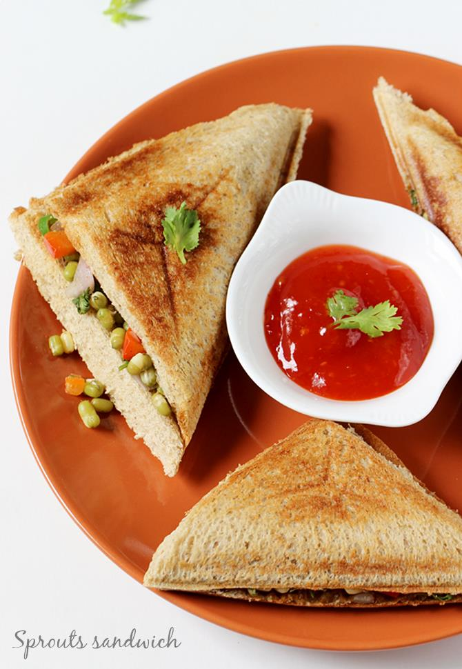 swasthis recipes moong sprouts sandwich