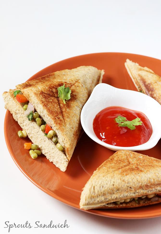 moong bean sprouts sandwich
