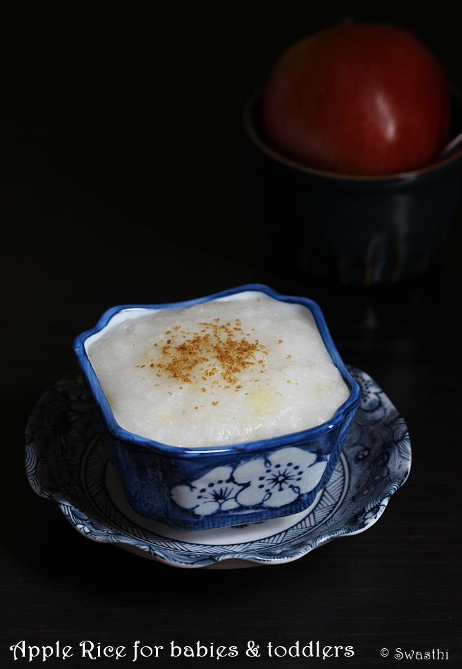 Apple Rice Recipe For Babies Toddlers Apple Rice Porridge