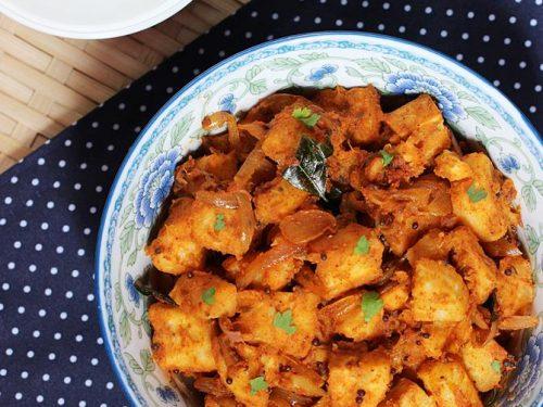 Raw banana masala curry