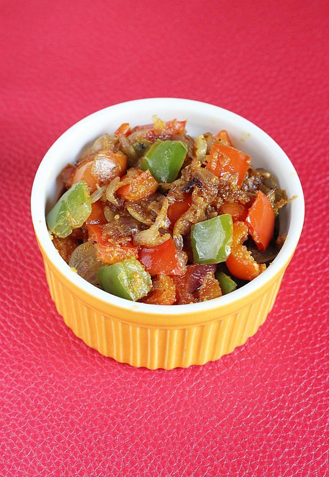 Capsicum fry recipe