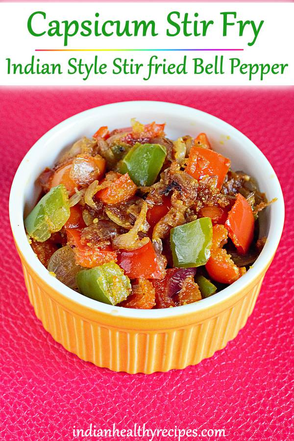 Capsicum fry recipe (Bell pepper stir fry)