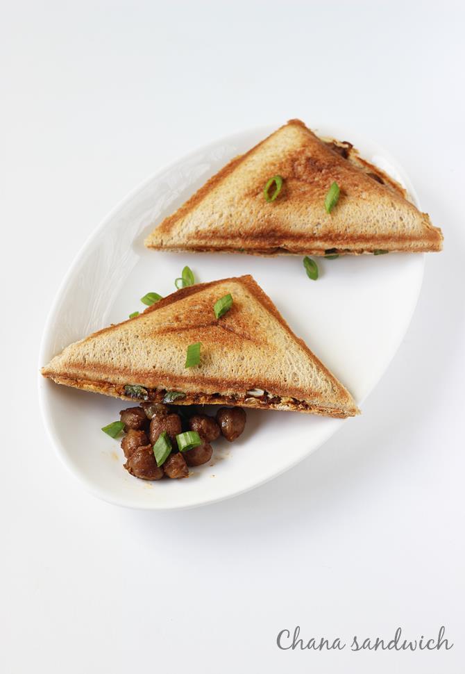 chana masala sandwich recipe