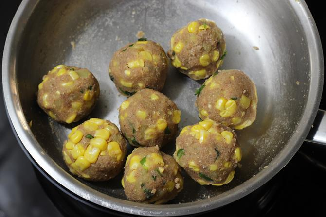 dough balls in corn cutlet recipe
