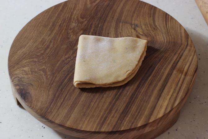 folding dal paratha recipe