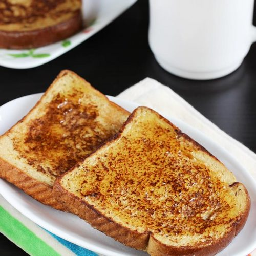 French toast (with egg & eggless)