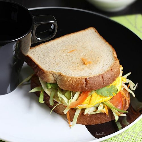 Fried egg sandwich recipe | 10 mins egg breakfast recipe