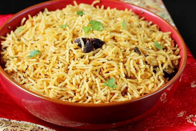 kuska rice recipe plain swasthis recipes