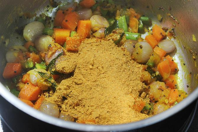 Add sambar powder