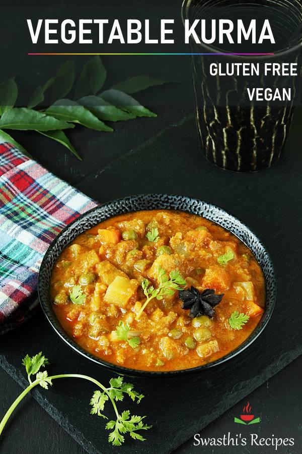 Veg kurma recipe | Vegetable kurma (Instant pot & stovetop)