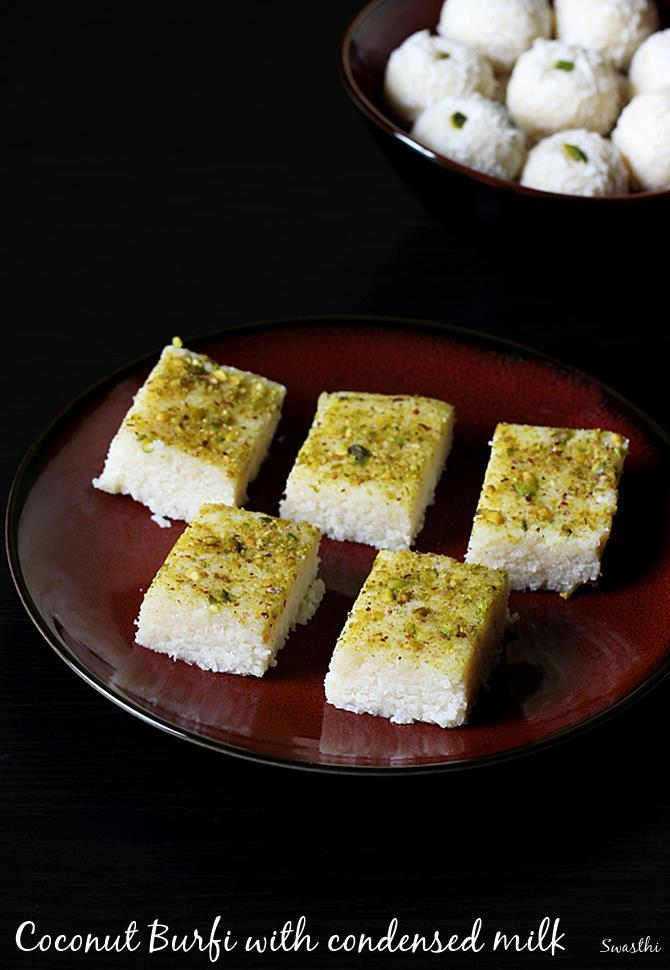 coconut barfi with condesned milk
