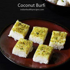 coconut burfi coconut barfi