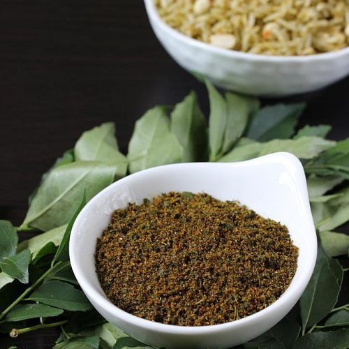 Curry leaves powder | Karivepaku podi | Curry leaves rice