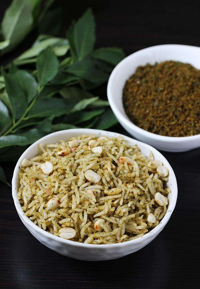 curry leaves powder rice
