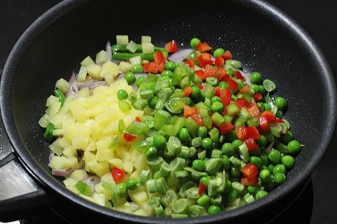 Add chopped veggies