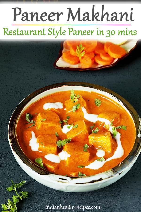 Paneer makhani is a delicious creamy paneer curry cooked in buttery tomato cashew gravy. This restaurant style paneer is the best you can make just under 30 mins.  #paneer #paneermakhani #indianfood